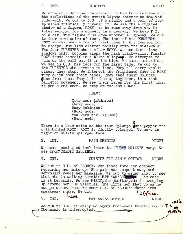 Bugsy Malone Text 2 -Bugsy Original AP screenplay
