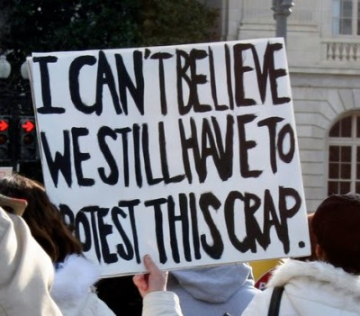 (INSERT PIC 2) protest-crap