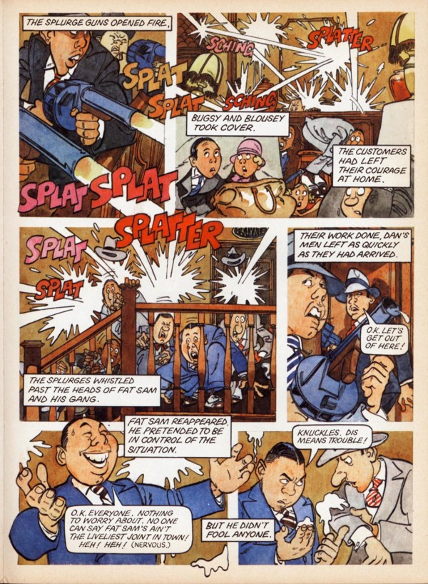 Page from Bugsyy Malone Graphic novel