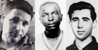 Schwerner, Goodman and Chaney murdered Civil Rights workers