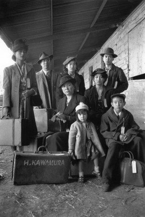 The Kawamura family: scene from the film Come See the Paradise