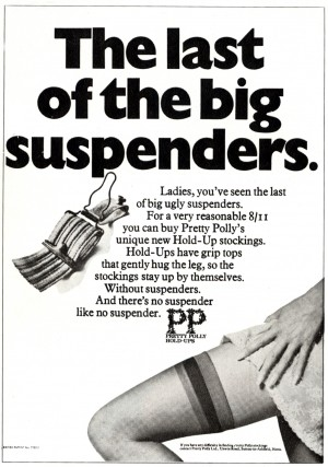 ALAN PARKER AD LAST OF THE BIG SUSPENDERS for CDP 1968