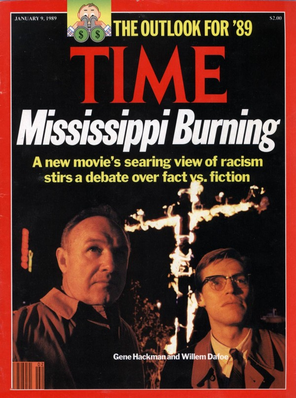 Time Magazine, Mississippi Burning, Gene Hackman and Willem Dafoe