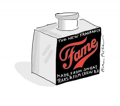 Fame perfume cartoon