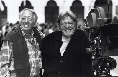 Robert Stigwood and Alan Parker  from the film Evita