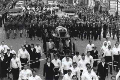 Scene from the film Evita, Eva's funeral
