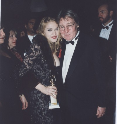 Madonna, Alan Parker Golden Globes Best Actress award