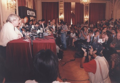 Press conference Buenos Aires for the film Evita