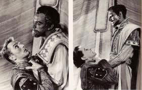 John Neville and Richard Burton in Othello